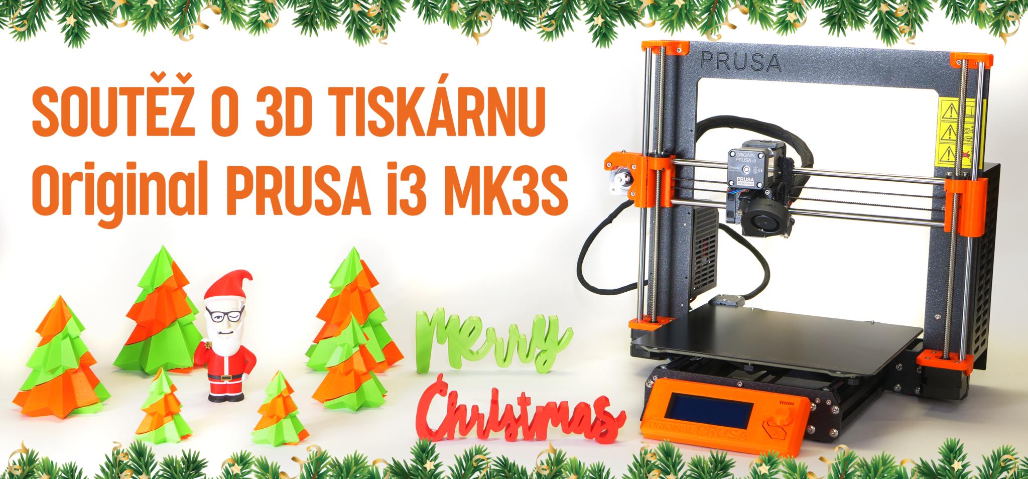 Vyhrajte tiskárnu Original Prusa i3 MK3S ve vánoční designerské soutěži!