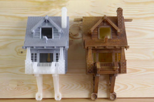 bird house before after